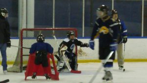 Diego in Net - Learning to be a goalie