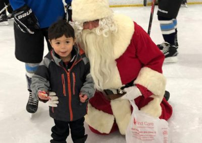 Santa with little guy