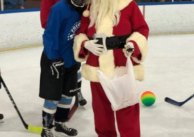 Santa Posing with Player